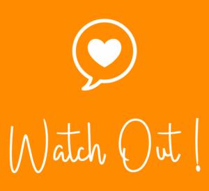 Watch Out logo i orange kvadratisk